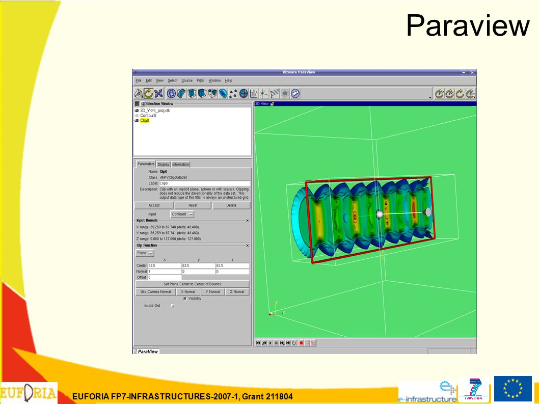 EUFORIA FP7-INFRASTRUCTURES-2007-1, Grant 211804 Paraview