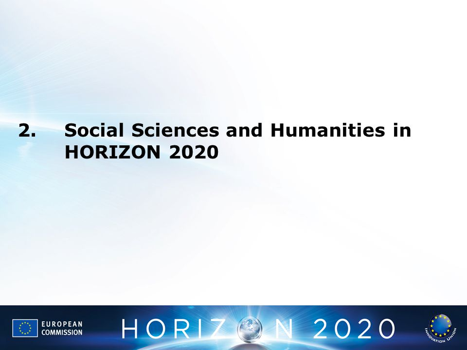 2.Social Sciences and Humanities in HORIZON 2020