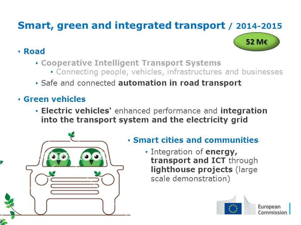Road Cooperative Intelligent Transport Systems Connecting people, vehicles, infrastructures and businesses Safe and connected automation in road trans