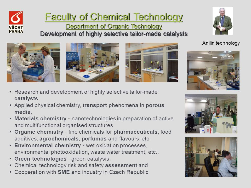 Faculty of Chemical Technology Department of Organic Technology Faculty of Chemical Technology Department of Organic Technology Development of highly