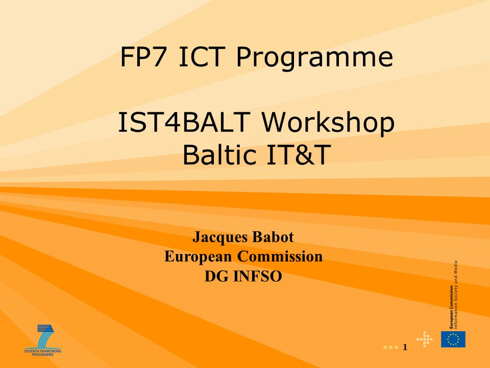 32 ICT Call 1 ICT for the intelligent vehicles and mobility services ICT Call 2 2.ICT for cooperative systems 3.ICT for the environmental management and energy efficiency Challenge 6: Objectives in Calls for Proposals