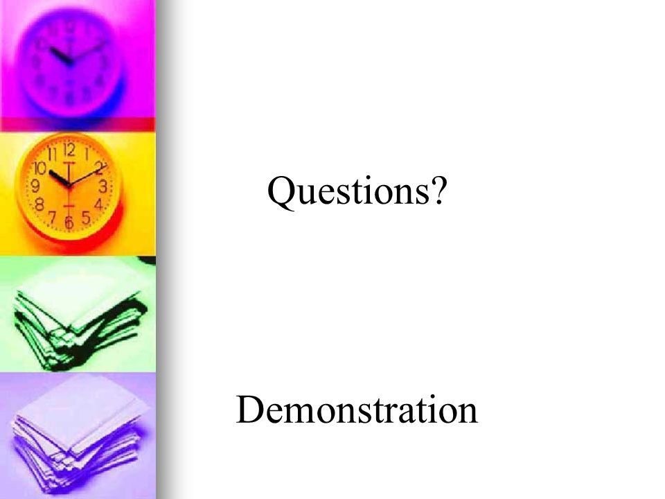 Questions Demonstration
