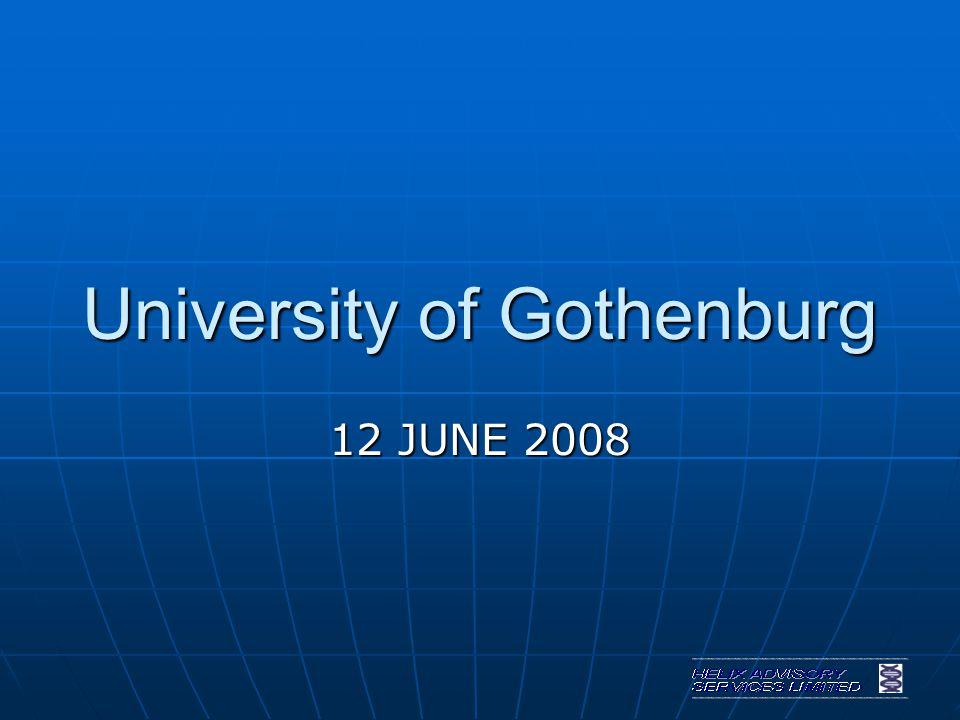 University of Gothenburg 12 JUNE 2008