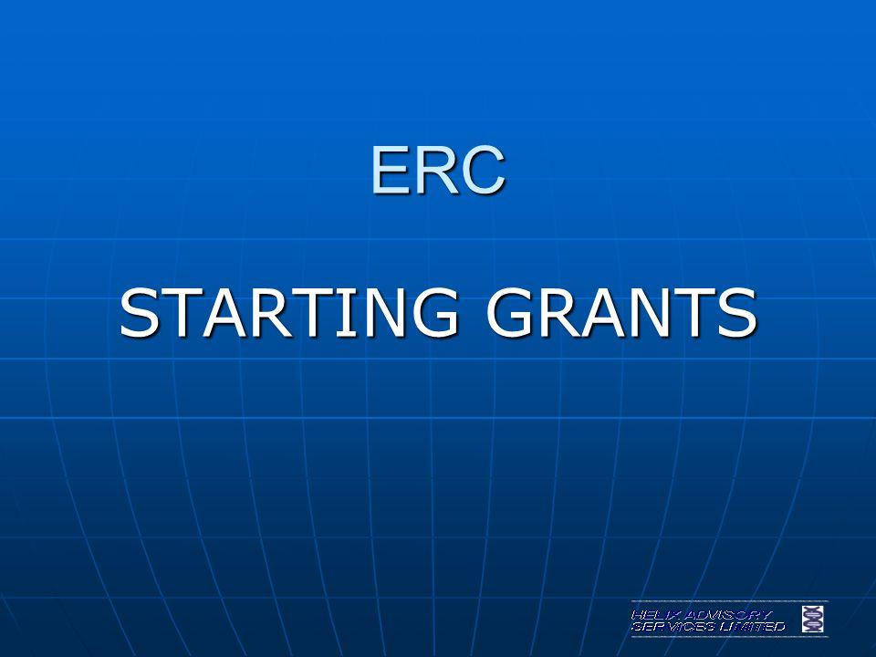 ERC STARTING GRANTS
