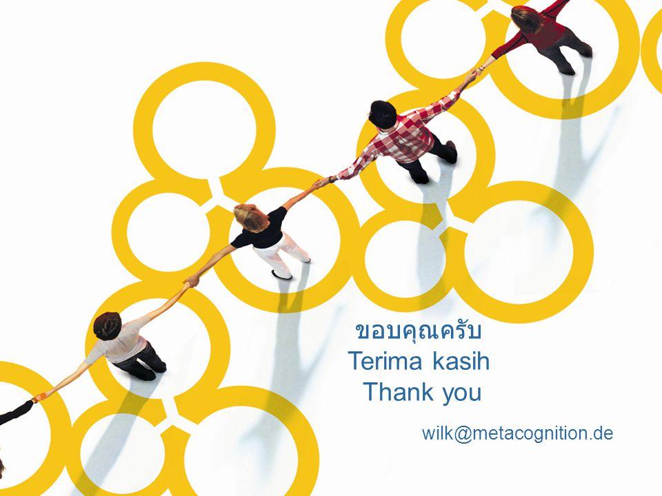 wilk@metacognition.de ขอบคุณครับ Terima kasih Thank you