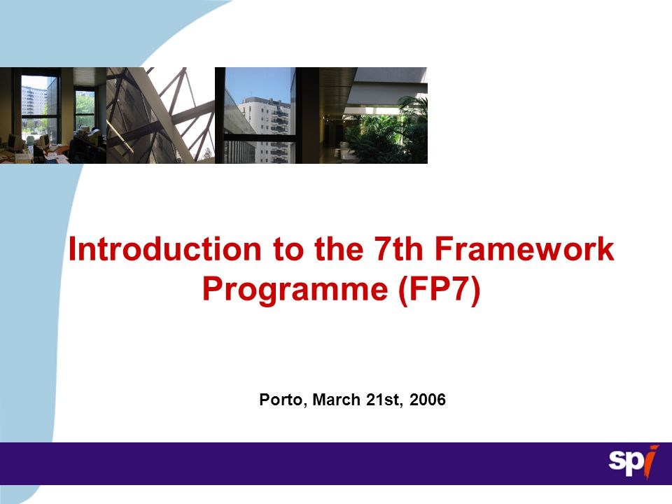 Introduction to FP7 Agenda Introduction to FP7 1.Background 2.FP7 Structure 3.FP7 Budget 4.Competitiveness and Innovation Framework Programme (CIP) 5.Next steps in FP7 development 6.Preparing for FP7