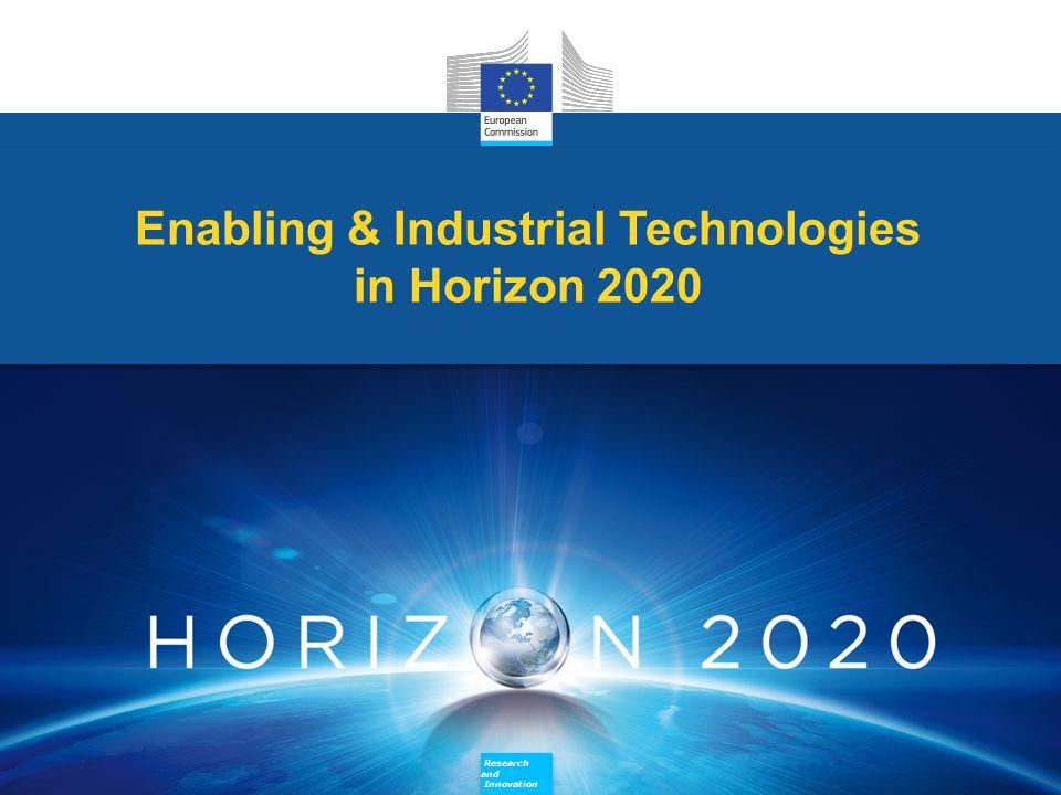 Research and Innovation Research and Innovation Enabling & Industrial Technologies in Horizon 2020 Enabling & Industrial Technologies in Horizon 2020