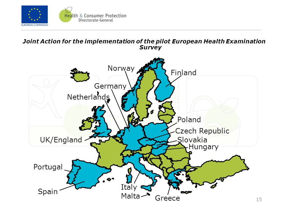 15 Joint Action for the implementation of the pilot European Health Examination Survey