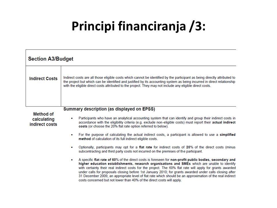 Principi financiranja /3: