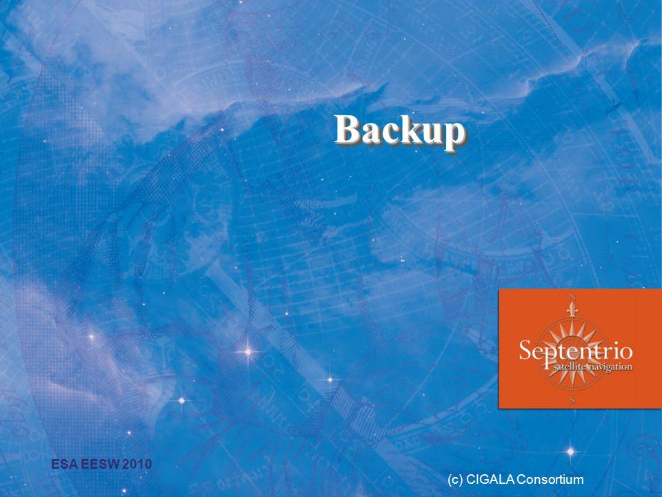 BackupBackup (c) CIGALA Consortium