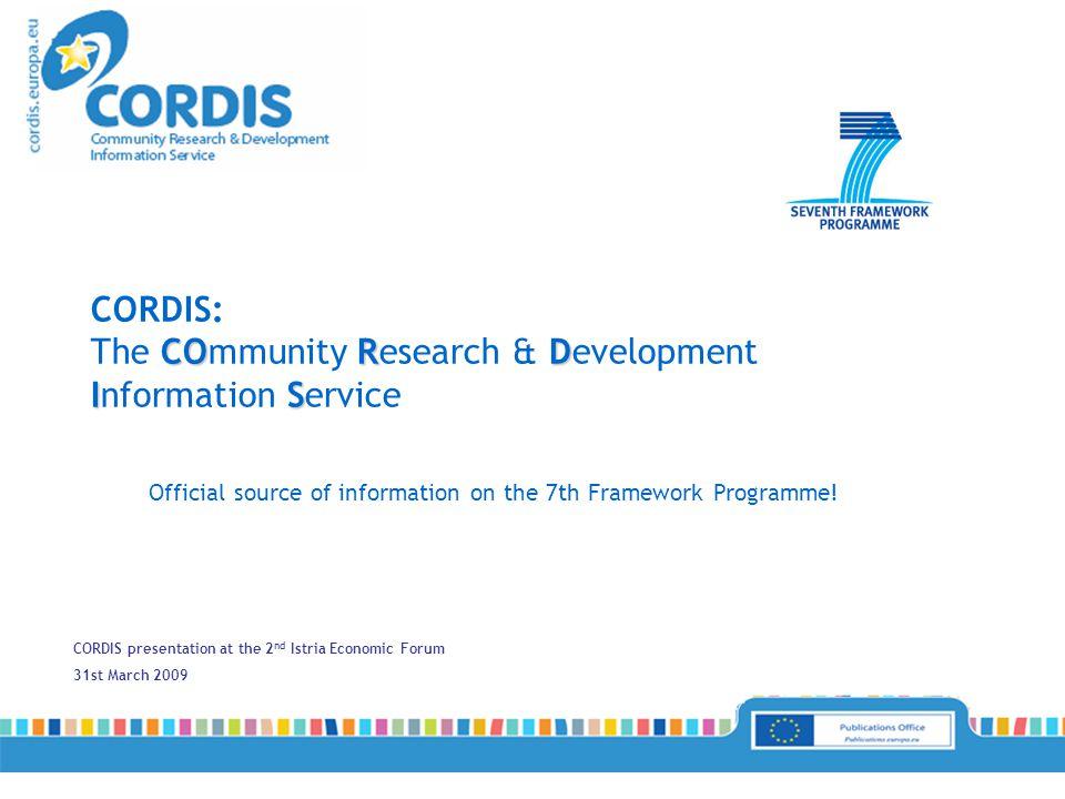 http://cordis.europa.eu/regions/home_en.html CORDIS Regional Gateway: a tool for promoting regional research.