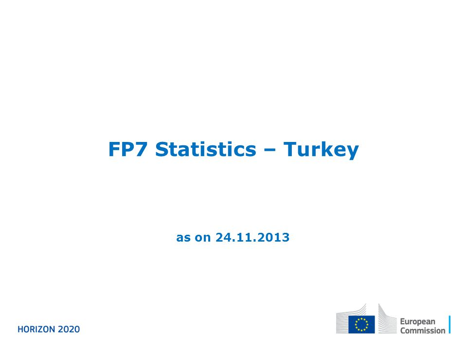 FP7 Statistics – Turkey as on 24.11.2013