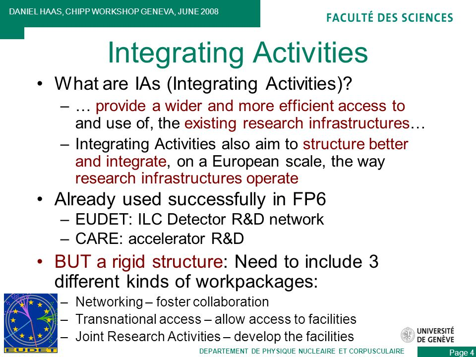 What are IAs (Integrating Activities).
