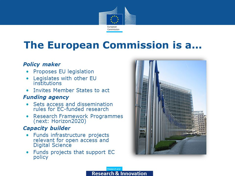 Policy Research and Innovation Research and Innovation Research & Innovation The European Commission is a...