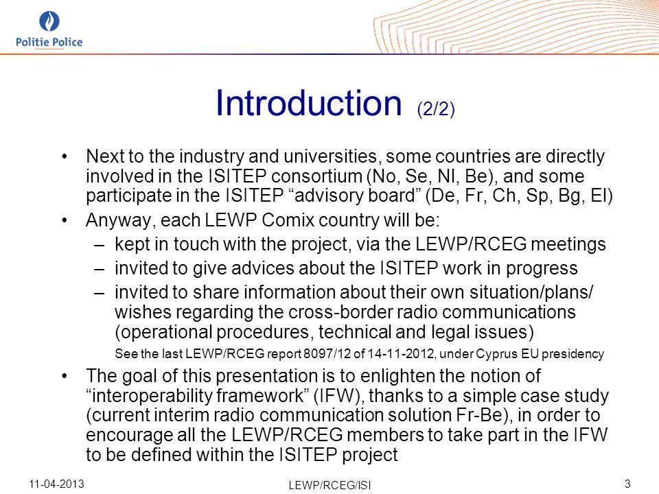 11-04-2013 LEWP/RCEG/ISI 44 1.