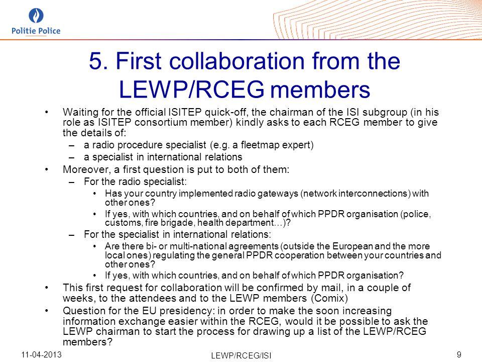 11-04-2013 LEWP/RCEG/ISI 9 5.