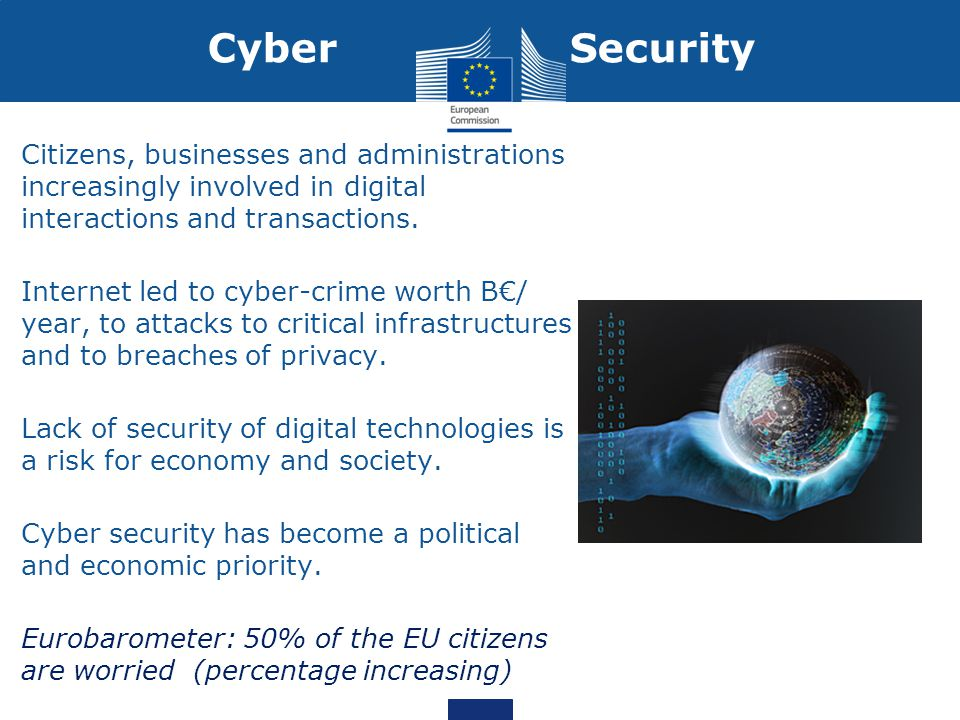 Cyber Security Citizens, businesses and administrations increasingly involved in digital interactions and transactions.