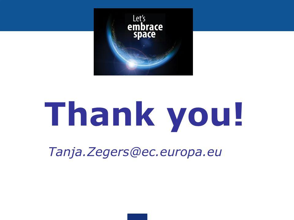 Thank you! Tanja.Zegers@ec.europa.eu
