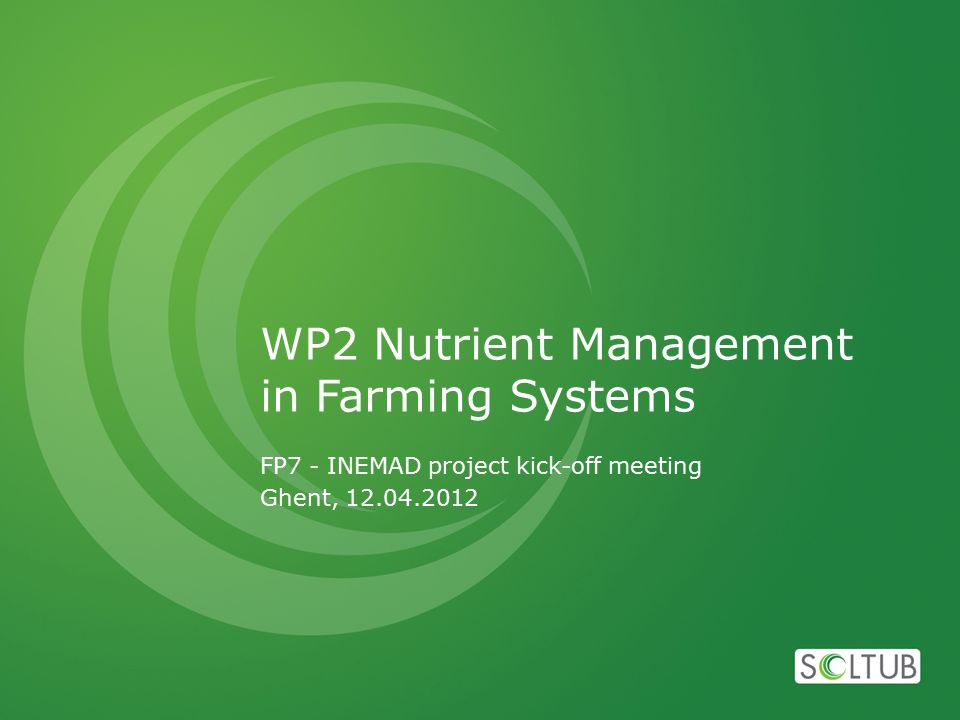 Links with other deliverables D.2.1 Report with the list of the existing and innovative strategies for nutrient recycling (month 12),  Receive inputs from: D.1.2, D.