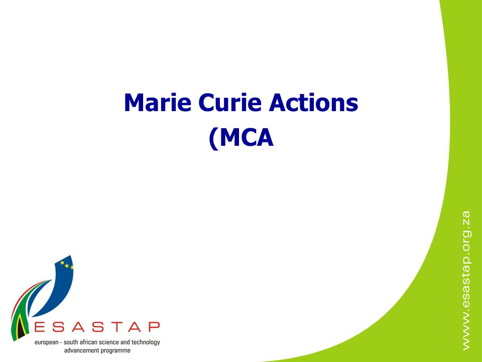 Marie Curie Actions (MCA
