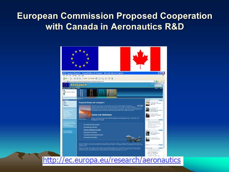 European Commission Proposed Cooperation with Canada in Aeronautics R&D