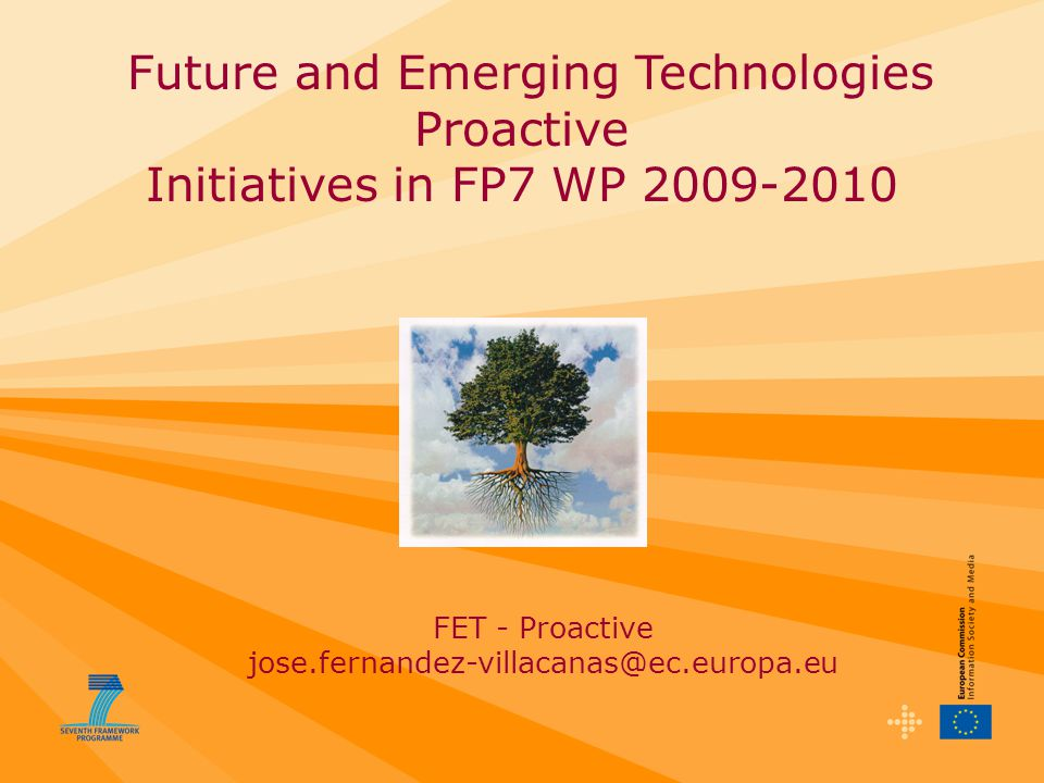 Future and Emerging Technologies Proactive Initiatives in FP7 WP FET - Proactive