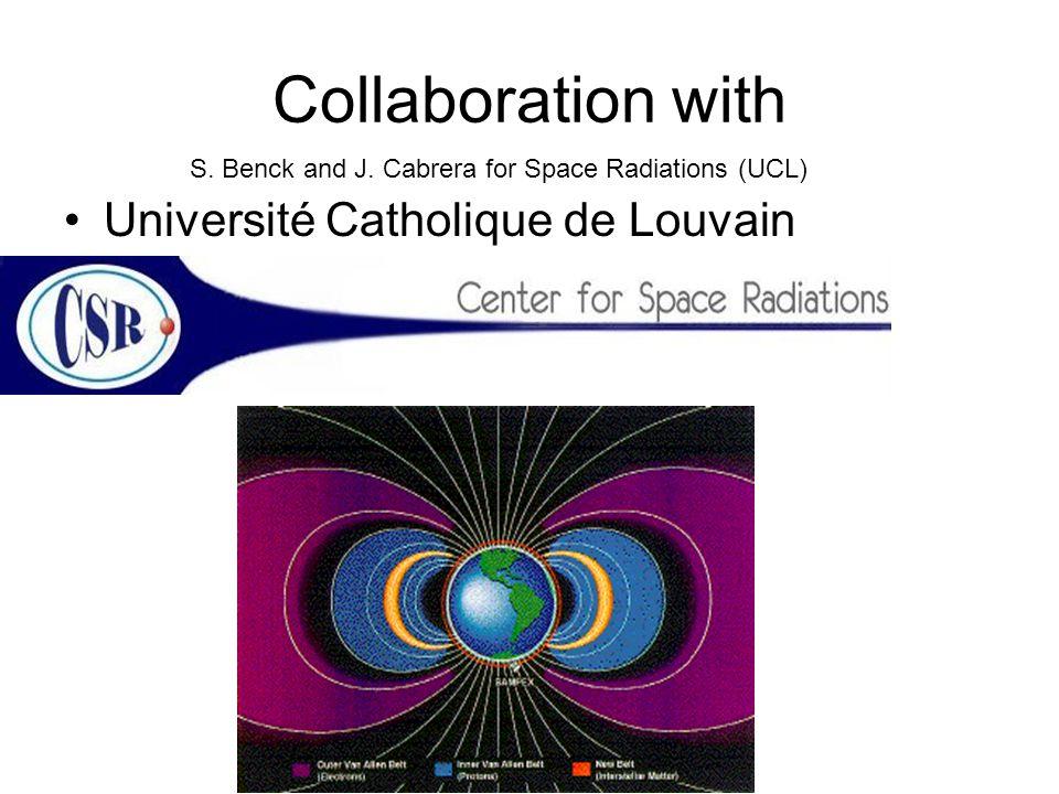 Collaboration with Université Catholique de Louvain S. Benck and J. Cabrera for Space Radiations (UCL)