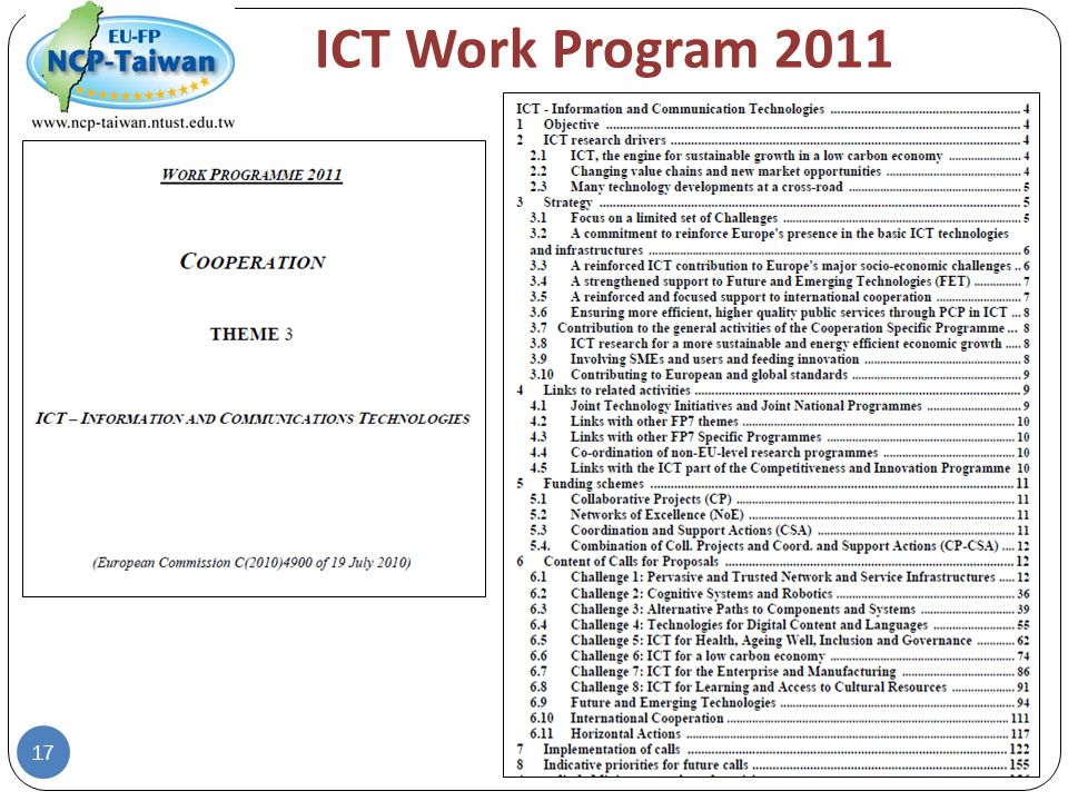 ICT Work Program 2011 17