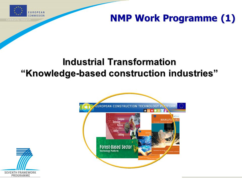 Industrial Transformation Knowledge-based construction industries NMP Work Programme (1)