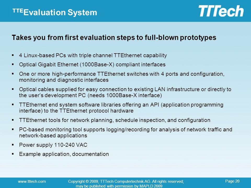 Page 20 www.tttech.comCopyright © 2009, TTTech Computertechnik AG.