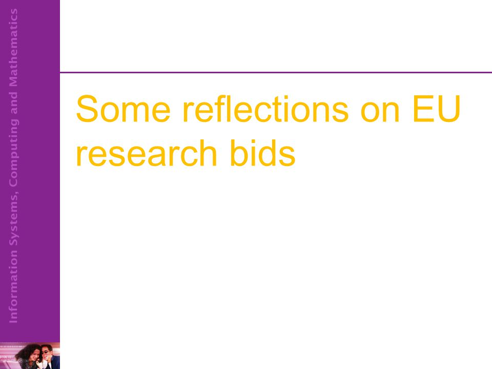 Some reflections on EU research bids