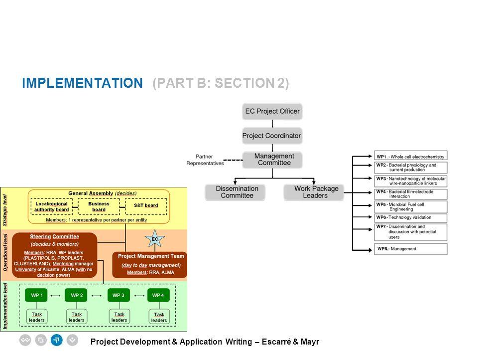 Project Development & Application Writing – Escarré & Mayr EPM EUROPEAN PROJECT MANAGEMENT TRAINING IMPLEMENTATION (PART B: SECTION 2)
