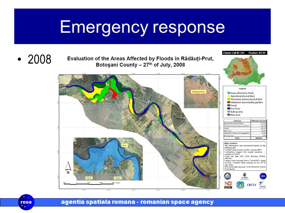 agentia spatiala romana - romanian space agency Emergency response 2008