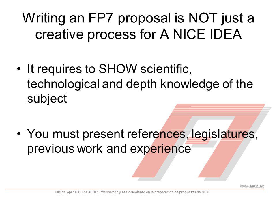 www.aetic.es Oficina AproTECH de AETIC: Información y asesoramiento en la preparación de propuestas de I+D+I 29 Useful tips 1.
