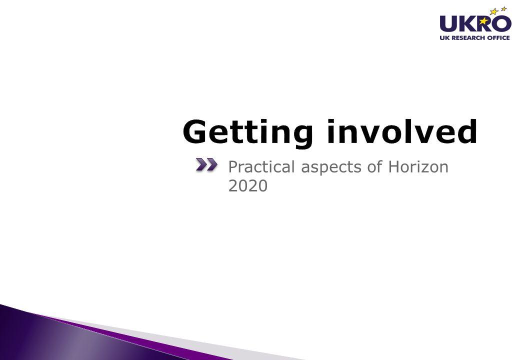 Practical aspects of Horizon 2020