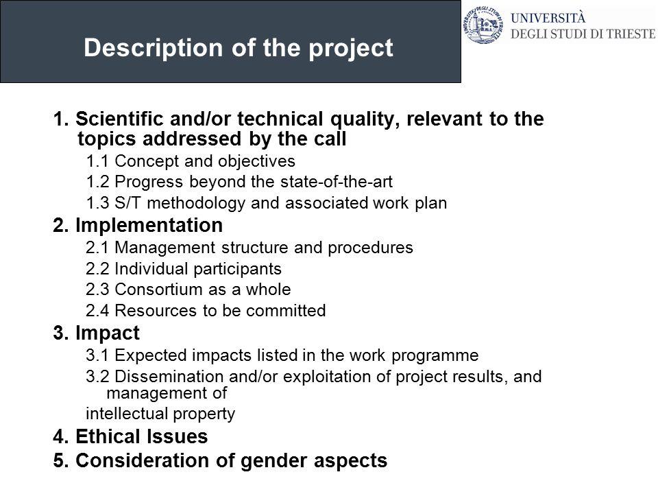 Description of the project 1.