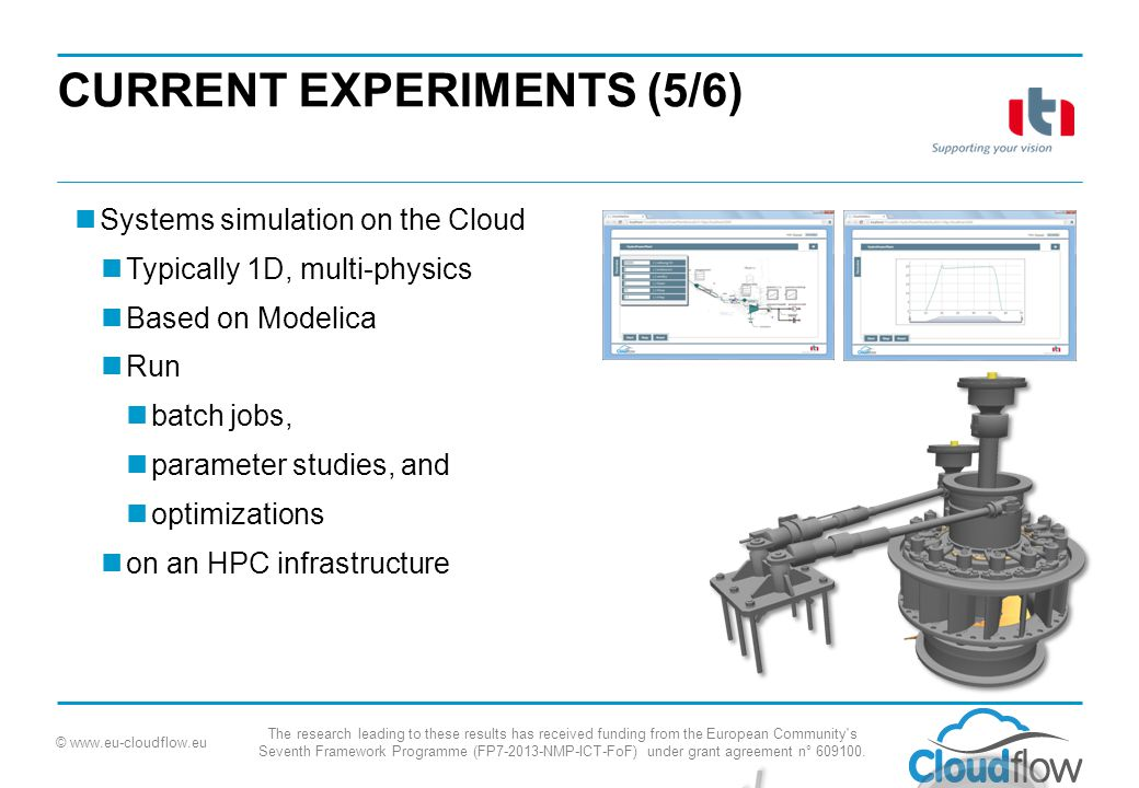 © www.eu-cloudflow.eu The research leading to these results has received funding from the European Community s Seventh Framework Programme (FP7-2013-NMP-ICT-FoF) under grant agreement n° 609100.