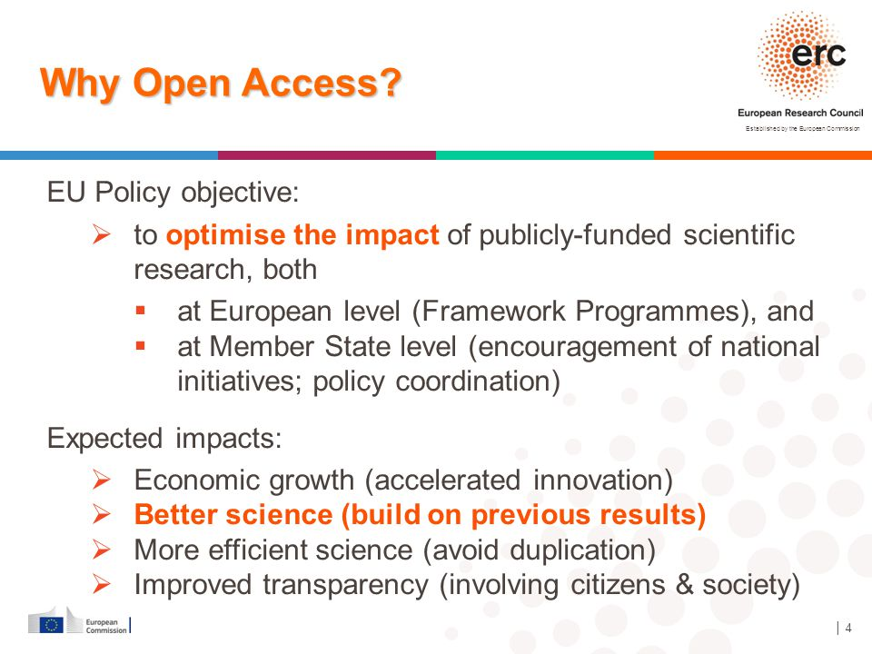 Established by the European Commission │ 15 Open Access support initiatives: ERC and Europe PubMed Central Europe PMC - repository for LS domain with added services:  Linked to PubMed Central in USA (huge number of publications & users)  Large number of journals automatically upload author manuscripts or published version  Funded by group of 24 European funders including ERC  ERC grantees can request set-up of PI account and use manuscript deposition service to satisfy open access requirements  High degree of take-up (about 740 accounts set up, i.e.
