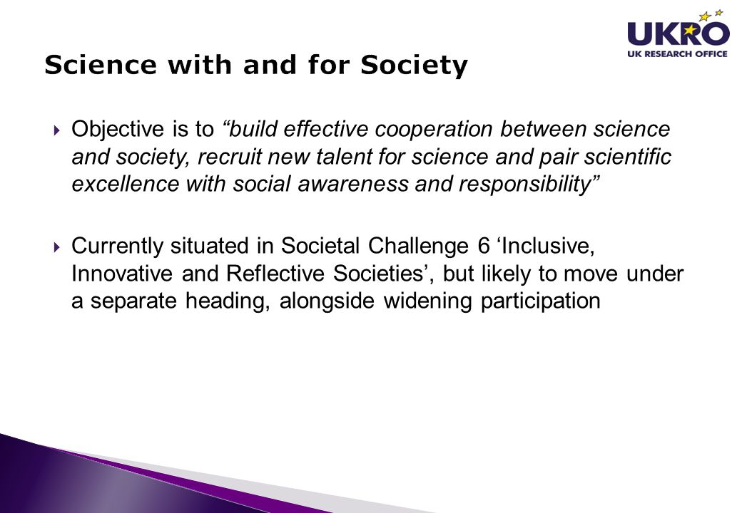 """ Objective is to """"build effective cooperation between science and society, recruit new talent for science and pair scientific excellence with social"""