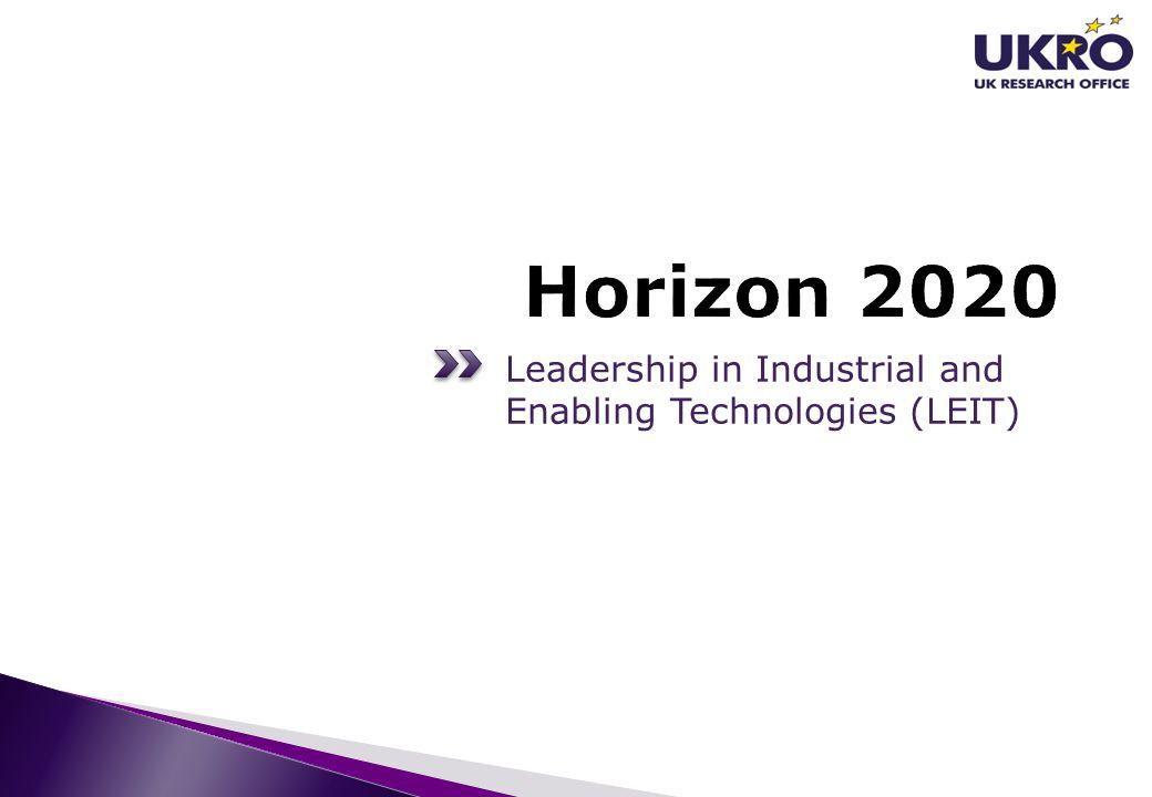 Leadership in Industrial and Enabling Technologies (LEIT)