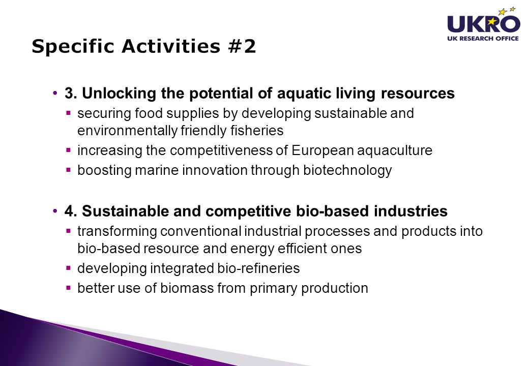 3. Unlocking the potential of aquatic living resources  securing food supplies by developing sustainable and environmentally friendly fisheries  inc