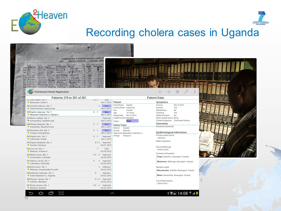 14 Recording cholera cases in Uganda