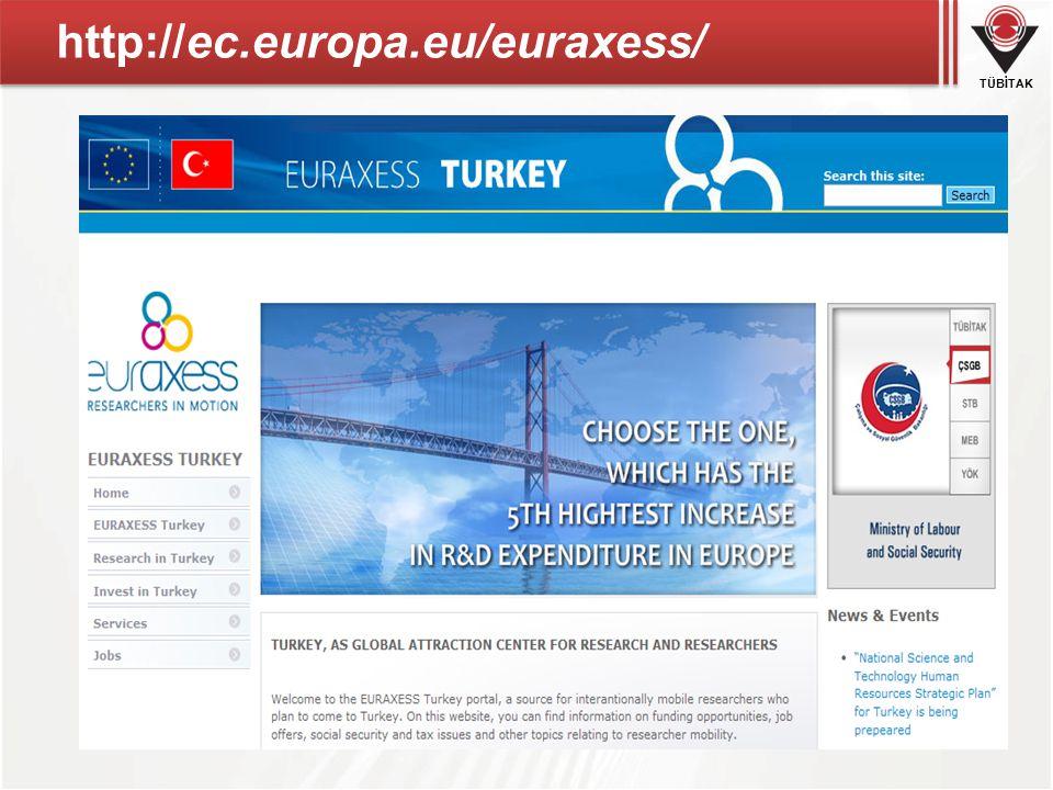 TÜBİTAK http://ec.europa.eu/euraxess/