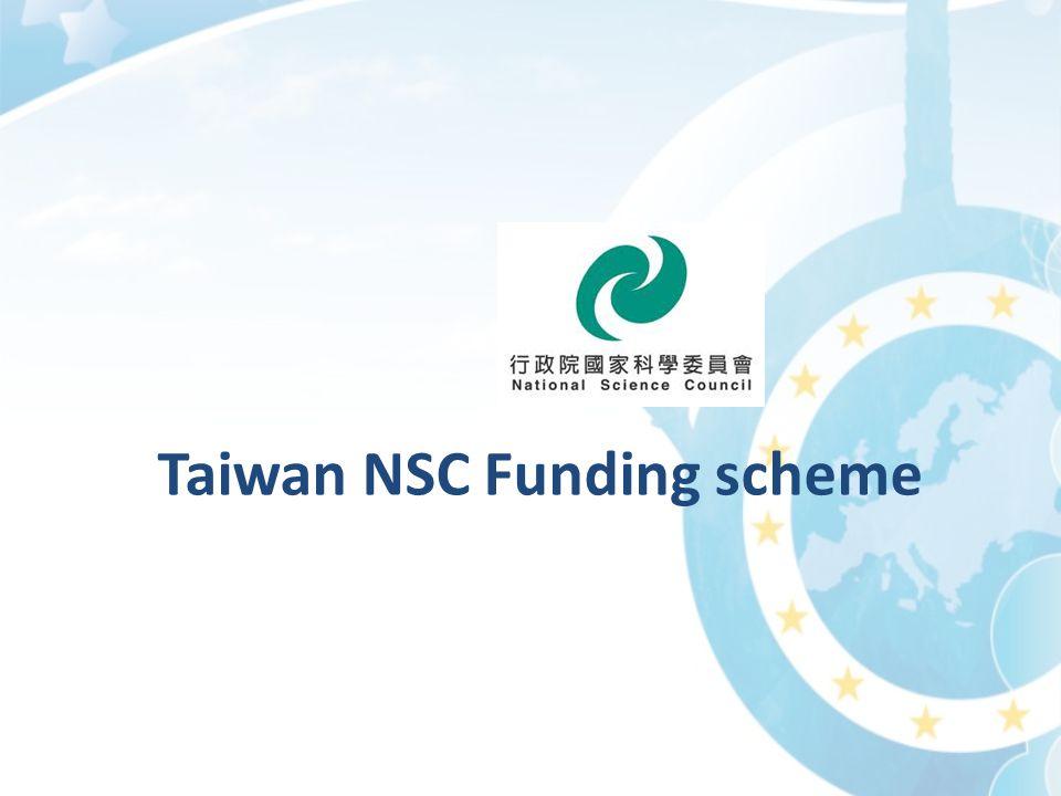 Taiwan NSC Funding scheme