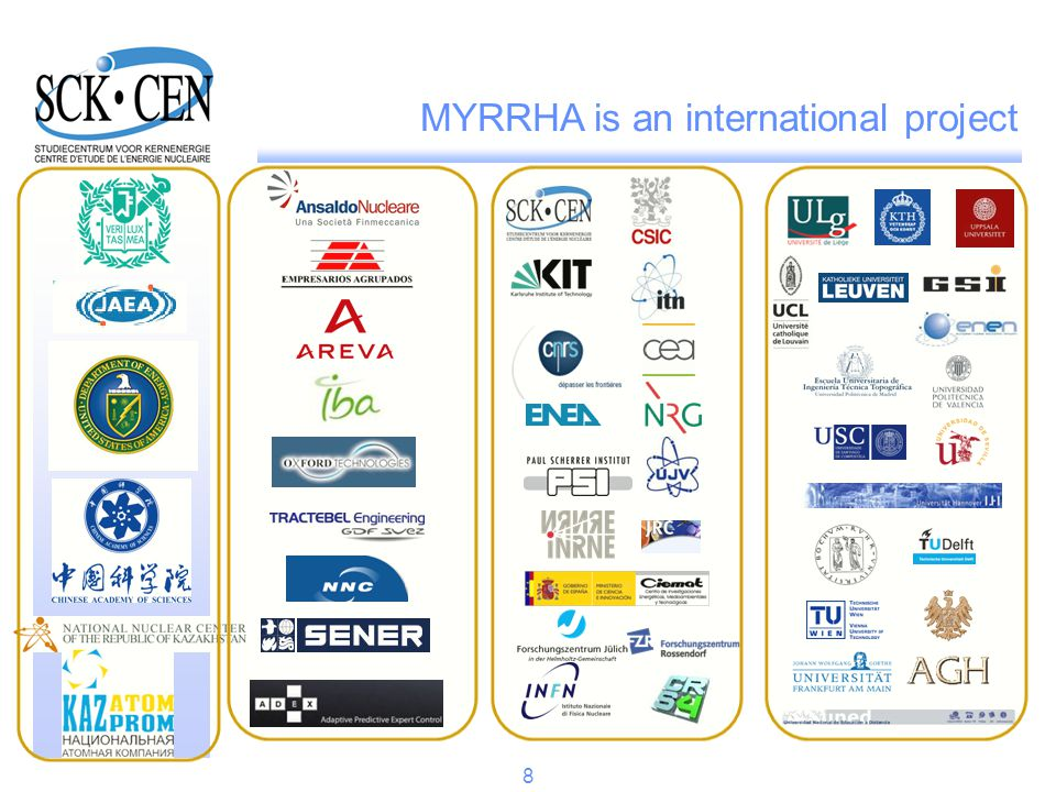 Table of contents Purpose of the MYRRHA project at SCKCEN Place of FP7 CDT project in this frame Conclusions of WP2 related to primary system Illustrations of design today Way ahead to construction 9
