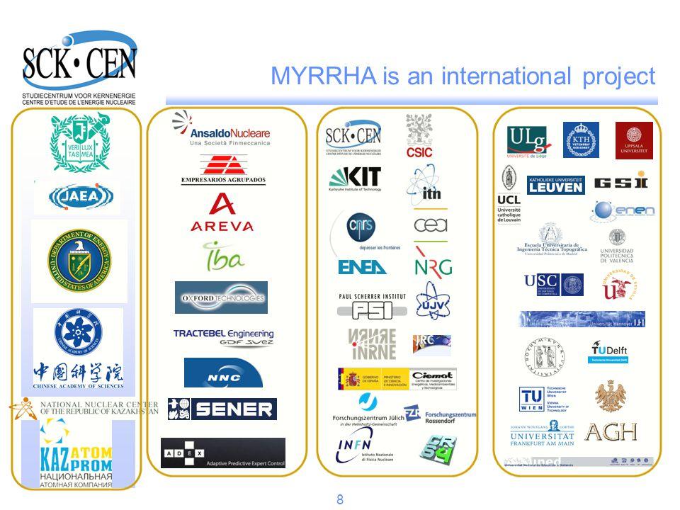 MYRRHA is an international project 8