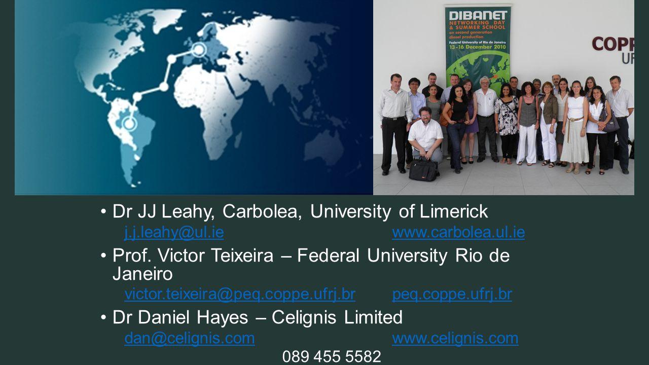 Dr JJ Leahy, Carbolea, University of Limerick j.j.leahy@ul.iewww.carbolea.ul.ie Prof.