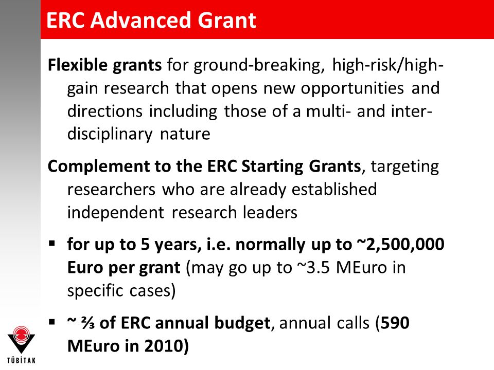 ERC Grants - Who can apply .