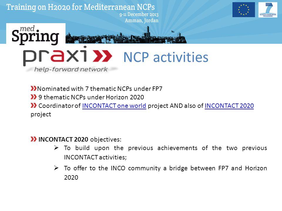 NCP Action Plan - Awareness Activities