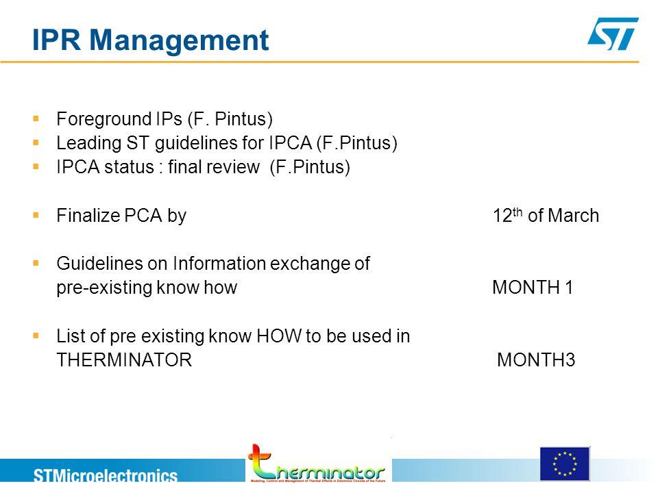 IPR Management  Foreground IPs (F.